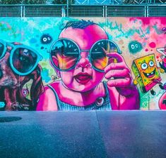 5 Benefits Of Spray Paint Wall Art That May Change Your Perspective - Ugur Seyman Graffiti Murals, Street Art Graffiti, Scooby Doo, Spray Paint Wall, Tummy Time, Pictures To Paint, Urban Art, Art Projects, Wall Art