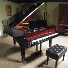 Elegant Model O Steinway Parlor Grand Piano http://antiquepianoshop.com/product/462/elegant-model-o-steinway-parlor-grand-piano/