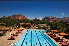 Sedona Hilton pool- where David swam laps and we watched the ladies do water aerobics.