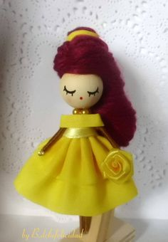 Beauty and the Beast Brooch doll doll brooch Miniature doll