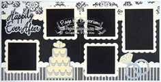 Scrapbook Page Kit Wedding Happily Ever After 2 by PageKitEmporium