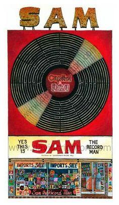 Sam The Record Man Cool Online Toronto Art  by Canadian Artist Illustrator David Crighton