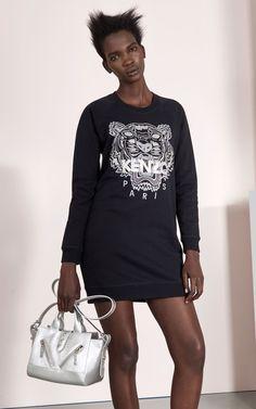 Tiger Christmas Sweatshirt Dress, KENZO
