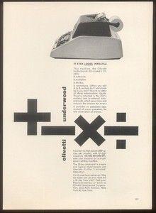Olivetti Advert - Leo Lionni