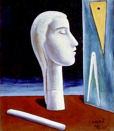Carlo Carra – The Engineer's Mistress – 1921 – Peggy Guggenheim Collection, Venice