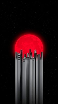 Red Moon City IPhone Wallpaper - IPhone Wallpapers