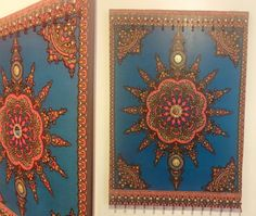Eclectic Sun x x Mixed media wall art comprised of African wax fabric adorned with brass, glass, and glass beads mounted on a wood frame. Perfect piece for any room that you want to bring in vibrant color and good vibes into. Media Wall, Plastic Beads, Glass Beads, Vibrant Colors, Mixed Media, Wax, African, Tapestry, Brass