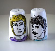 Hall and Oates salt and pepper shakers. They're watching you. They see your every move.