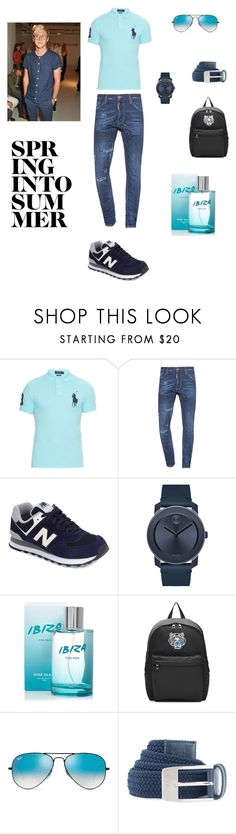 """""""bes"""" by neymarzeterafaella on Polyvore featuring Polo Ralph Lauren, Dsquared2, New Balance, Movado, River Island, Kenzo, Ray-Ban, Under Armour, Oliver Spencer and men's fashion"""