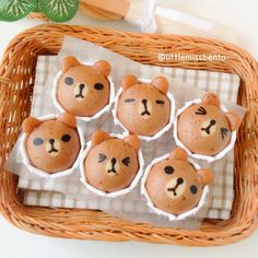 [Recipe] LINE Brown Bear Steam Cakes (Japanese mushipan) - Little Miss Bento Cute Desserts, Asian Desserts, Line Brown Bear, Japanese Sweets, Japanese Wagashi, Childrens Meals, Steamed Cake, Baking With Kids, Cute Cupcakes