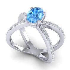 Swiss blue topaz | Engagement Rings | Wedding Jewelry