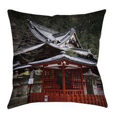 Nikko Monastery Building Indoor/Outdoor Throw Pillow
