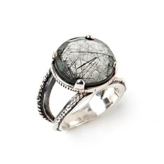 For the modern eye, this is an out of the box and stylish ring.