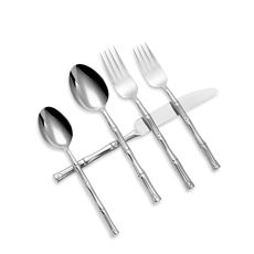 Hampton Forge Bamboo Mirror 20-Piece Flatware Set - bamboo bamboo bamboo!