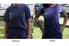 Large T-Shirt to Fitted Tee Tutorial   a.steeds.life