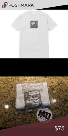 99804fa13c1a Shop Men's Supreme White size M Tees - Short Sleeve at a discounted price  at Poshmark.