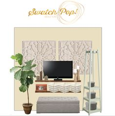 SwatchPop! | How to Decorate Around a TV