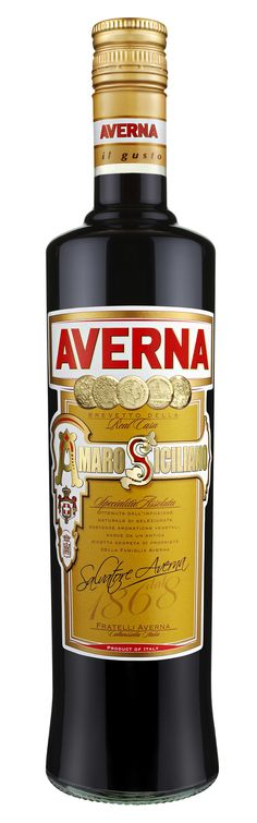 Amaro Averna Liqueur is a popular Italian digestif made of herbs, roots and spices with caramel.