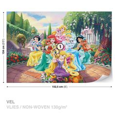 WALL-MURAL-PHOTO-WALLPAPER-XXL-Disney-Princesses-Rapunzel-Ariel-2492WS