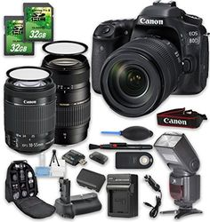 Canon EOS 70D DSLR Camera Bundle with Canon EFS 1855mm f3556