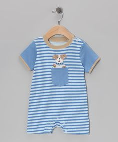 Blue Stripe Dog Romper | Daily deals for moms, babies and kids
