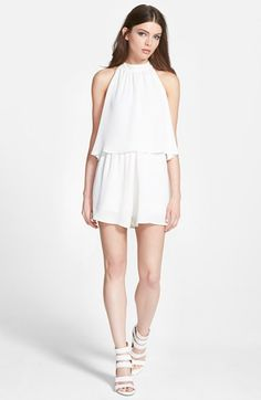 Leith High Neck Romper available at #Nordstrom -- This is so lovely - it could be dressed up beautifully.  Too bad they're out of my size. :(