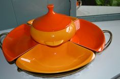 1970's Calif. USA Pottery  Sectioned Party Party by KKsVintage, $49.95