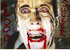 GRAF DRACULA - BLOOD SUCKER by MW Art Marion Waschk - außergewöhnliche Materialien wie Nagellack, Eyeliner oder Nail white pencil http://www.metal-jay.com/epages/63646803.sf/de_DE/?ObjectPath=/Shops/63646803/Categories/Bilder/Marion_Waschk