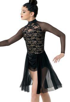 257e05846ce Weissman® | Long-Sleeve Glitter and Mesh Dress Dance Quotes, Dance Sayings,