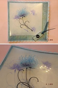 """By Jacky Williams. Penny Black's """"Dreamy"""" stamped onto acetate & heat embossed. WOW!"""