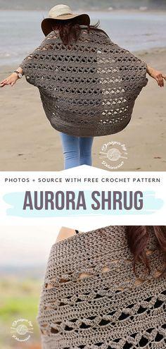 Aurora Shrug Free Crochet Pattern  #crochetshrug