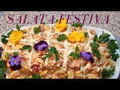 Salata festiva pentru sarbatori. - YouTube Grains, Rice, Meat, Chicken, Youtube, Food, Salads, Essen, Meals
