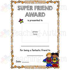 Anti-Bullying, Friendship Certificates