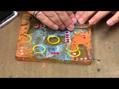 ▶ Gelli Plate Packing Tape Transfer Technique by Michelle McCosh - YouTube. Love her twist on this technique where she stamps as the final layer. You can stamp text and it doesn't have to be backwards! This would be a cool way to color in a large open stamp without really coloring.