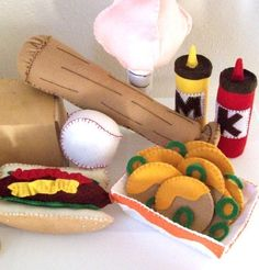 BALLPARK FUN Felt Food and Toy Pattern by LittleCrickets on Etsy