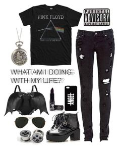 """""""Messy Hair, er I Mean Life"""" by night-nyx on Polyvore featuring Floyd, Levi's, Mancienne, Disney, Manic Panic, Ray-Ban, Chicnova Fashion, women's clothing, women and female"""