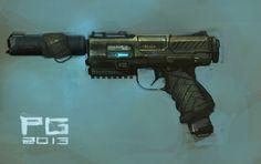 Pistol concept by *ProxyGreen on deviantART