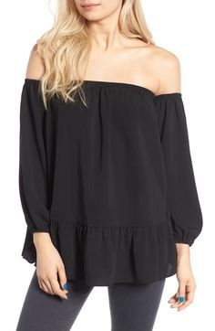 BP. Off the Shoulder Peplum Top available at #Nordstrom
