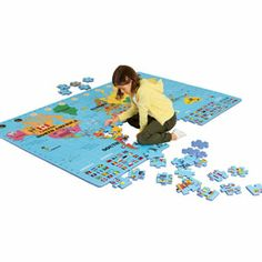 Giant World Map Floor Puzzle - Games & Puzzles - MetKids - The Met Store