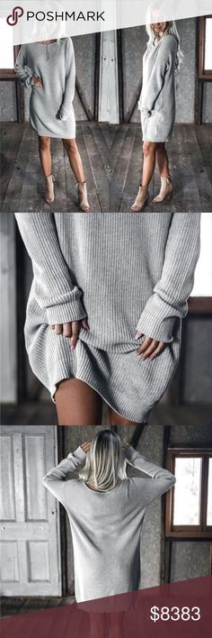 ⭐️S-XXLCOMING SOONThe Soft Wool Lambs Ear Soft cozy ribbed wool blend sweater dressItem is new, direct from maker without store tagsPLEASE LIKE THIS LISTING FOR ARRIVAL UPDATES. PRICE WILL NOT EXCEED $45 Christmas gift  Posh Garden Sweaters Crew & Scoop Necks