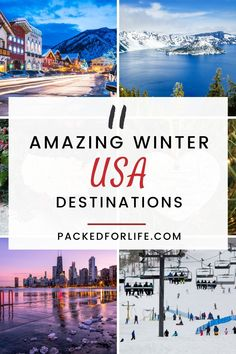 Looking for a winter wonderland to spend the Holidays, or a snowy vacation with friends or family? All the best places for a winter vacation in the USA. Plenty of winter things to do for skiers, and non-skiers. Amazing Winter Destinations in the USA. Family Friendly winter vacations, USA. Honeymoon Destinations Usa, Best Family Vacation Destinations, Winter Destinations, Vacation Trips, Vacation Ideas, Best Us Vacations, Winter Family Vacations, Family Vacation Spots, Family Travel