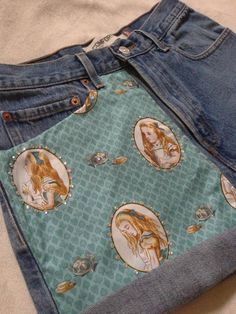 Alice in Wonderland Shorts with Crystals. $38.00, via Etsy. @Jackie Winn