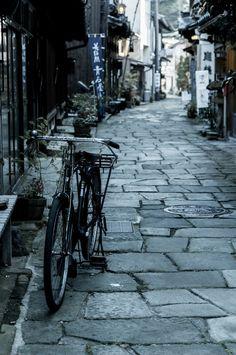 Matsue, Shimane, Japan 青石畳通り