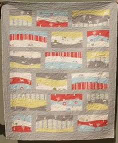 Sea Views quilt pattern from Kate Conklin Designs using the Storyboek organic fabric collection.