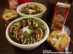 12月26日 甘辛鶏マヨ温玉のっけ丼弁当 と くるみといろいろフルーツのパウンドケーキ - 夫婦わっぱ