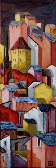 Elévation (Peinture),  25x75 cm par Patricia Lejeune élévation au  sein d'une…