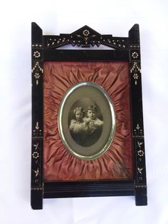 Antique Small Aesthetic Picture Frame with Velvet and Silver Frame #AestheticMovement #unknown
