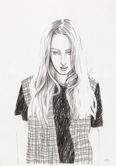 Richard Gray - Check Shirt - Fashion Illustration Gallery