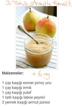 We have breakfast with pears. Baby Food Recipes, Healthy Recipes, Mama Recipe, Homemade Beauty Products, Kids Meals, Pear, Breakfast Recipes, Clean Eating, Fruit