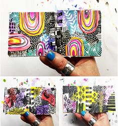 Ever since I created my Miniature Masterpiece online class , I can't stop working in my tiny art journal! While I will always love worki. Drawing Journal, Art Journal Pages, Art Journaling, Bullet Journal Work, Alisa Burke, Art Journal Backgrounds, Art Journal Inspiration, Journal Ideas, Watercolor Pattern